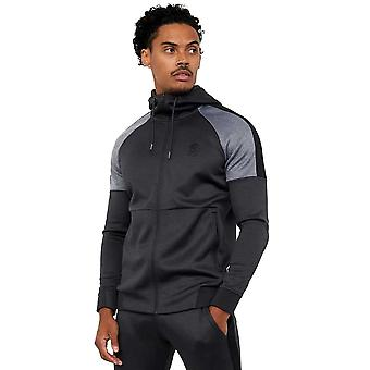 Gym King Core Plus Poly Tracksuit Top - Black Marl/Charcoal Marl