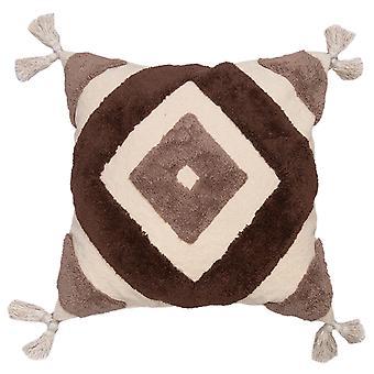 "Spura Home Leto Brown Diamond Medallion 20""x20"" Pillow Cushion"