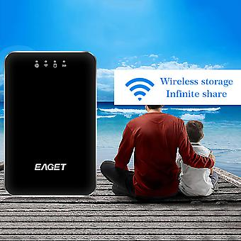 Eaget A86 Wireless Wifi Hard Disk Usb 3.0 1tb With 3g Router 3000ma Battery