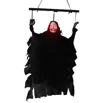Venalisa Halloween Décorations Capteur à commande vocale Crâne Brillant Petit Fantôme Suspendu