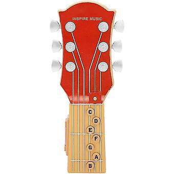 Air Guitar, Infrared Induction Simulation 7-chord Guitar Jouet pour enfants, Guitare portable Abs Plastic Shell Music Toy (rouge)