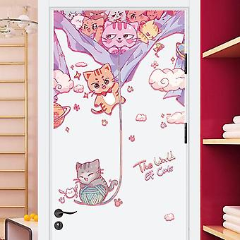 Carino gatto per bambini Ufficio Casa Adesivi decorativi Parete Decor Decalcomanie