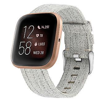 Eenvoudige Canvas-horlogeband voor Fitbit Versa 3 / Sense