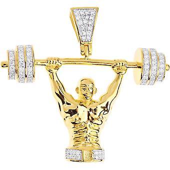 قسط بلينغ-كمال أجسام فضة قلادة الذهب