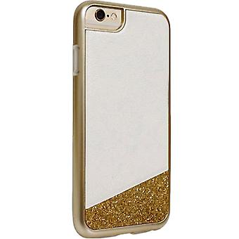 Milk and Honey Glitter Case for Apple iPhone 6/6s - White with Gold