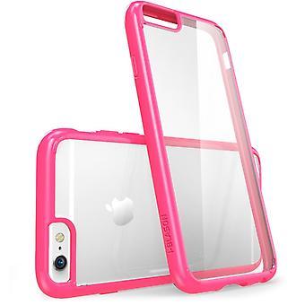 iPhone 6s mais caso, i-Blason, Halo Scratch resistente híbrido capa-Clear/Pink