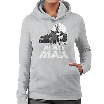 Mad To The Max Sam And Max Women's Hooded Sweatshirt