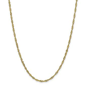 14 k 2.75 mm Lightweight Σιγκαπούρη αλυσίδα αστράγαλος βραχιόλι κοσμήματα δώρα για τις γυναίκες-μήκος: 9 έως 10