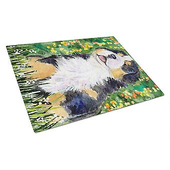Carolines Treasures  SS8955LCB Bernese Mountain Dog Glass Cutting Board Large