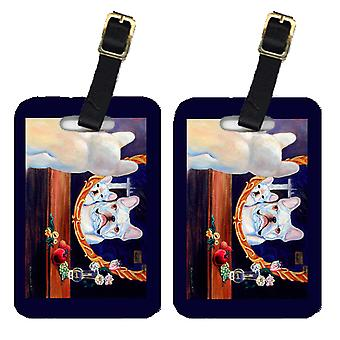 Carolines Treasures  7514BT Pair of 2 French Bulldog Luggage Tags