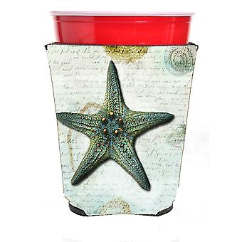 Carolines skatter SB3034RSC sjöstjärnor röd Solo Cup dryck isolator Hugger