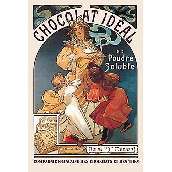 Chocolat Ideal 1897 Poster Print by Alphonse Mucha