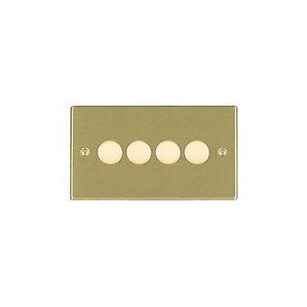 Hamilton Litestat Hartland Satin Brass 4g 100W LED Dimmer SB