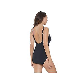 Seaspray SY007050 vrouw zwart effen kleur kostuum een stuk zwembroek