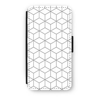 iPod Touch 6 Flip Case - Cubes black and white