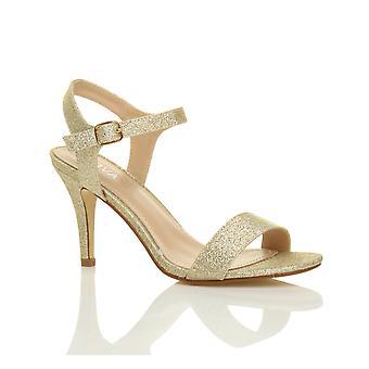 Damskie Ajvani połowie niski wysoki obcas strappy, ledwo tam impreza wesele studniówkę sandały buty