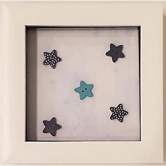 Laura Ann Cards Frame - Stars Blue White Frame