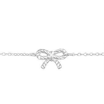 Bow Inline - 925 Sterling Silver Chain Bracelets - W20451x