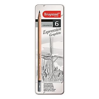 Bruynzeel Expression Graphite Pencil Set of 6