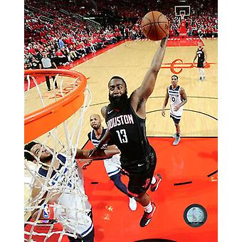 James Harden 2017-18 Playoff Action Photo Print