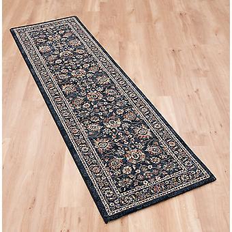 Da Vinci 057 0166 3434 donker blauwe rechthoek tapijten traditionele tapijten