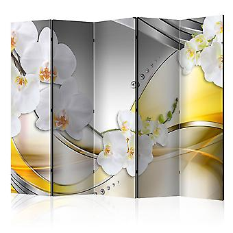 5-teiliges Paravent - Yellow Journey II [Room Dividers]