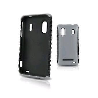 מקרה כפפות הגוף כיסוי HTC Evo עיצוב 4G טלפון חכם-שחור/אפור