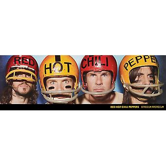 Red Hot Chili Peppers Helmets Poster Print