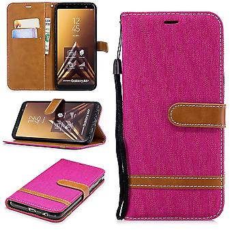 Samsung Galaxy A6 + plus 2018 mobile sleeve bag case cover pink slot