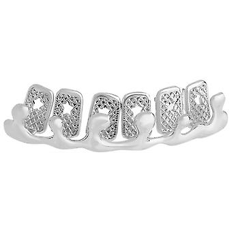 One size fits all Top Grillz - Bling Drip silber