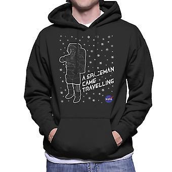 NASA Christmas A Spaceman Came Travelling Men's Hooded Sweatshirt