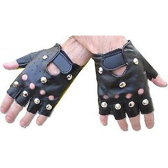 Bnov Studded Punk Gloves