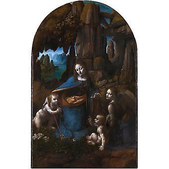 Virgin of the Rocks, terminé, LEONARDO da Vinci, 60x40cm