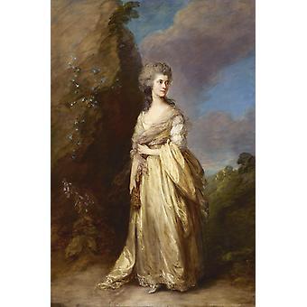 Rouva Peter William Baker, Thomas Gainsborough, 60x40cm