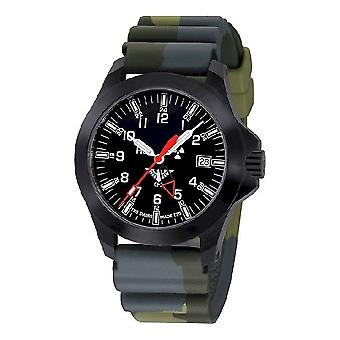 KHS watches mens watch black platoon GMT LDR KHS. BPGLDR. DC3