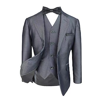 Designer Boys Italian Suit in Tonic Grey