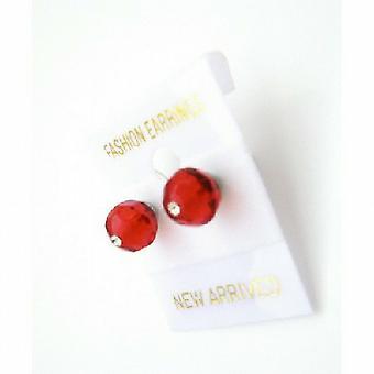 Кристаллы девочек Стад Серьги доступной цене Lite Siam красные серьги