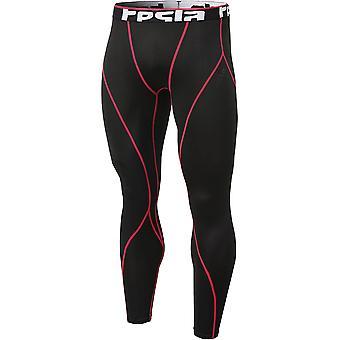 TSLA Tesla YUP33 termisk vinter gear Baselayer kompressions bukser-sort/rød