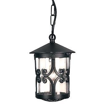 Hereford svart veranda kjeden detaljert lanterne - Elstead belysning Bl13B svart