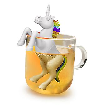 Unicorn white tea made of 100% silicone, to hook into the glass or Cup in gift box.