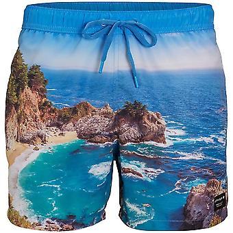 Bjorn Borg Stunning Coastal Print Swim Shorts, Ibiza Blue