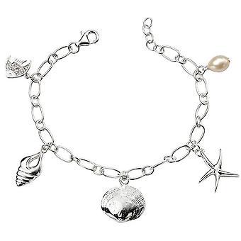 Начало морской жизни шарм браслет - серебро