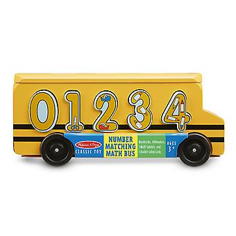 Melissa & Doug Wooden Number Matching Maths Bus 3+