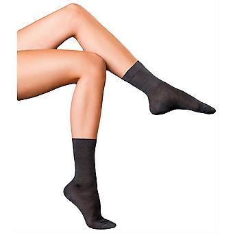 Falke mejores No2 puro calcetines de seda - gris de asfalto