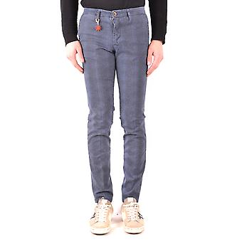 Manuel Ritz Ezbc128038 Men's Blue Cotton Pants