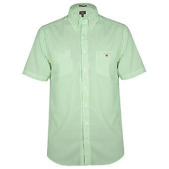 GANT Spearmint Striped Regular Short-Sleeve Shirt