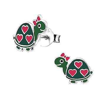 Children's Sterling Silver Turtle Stud Earrings