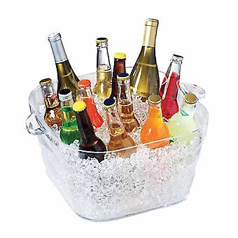 Serroni Unbreakables Square Party Tub Ice Bucket