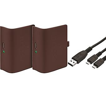 Rechargeable battery twin pack: red (xbox one)