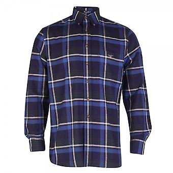 Gant Maine Twill Check Shirt, Ocean Blue